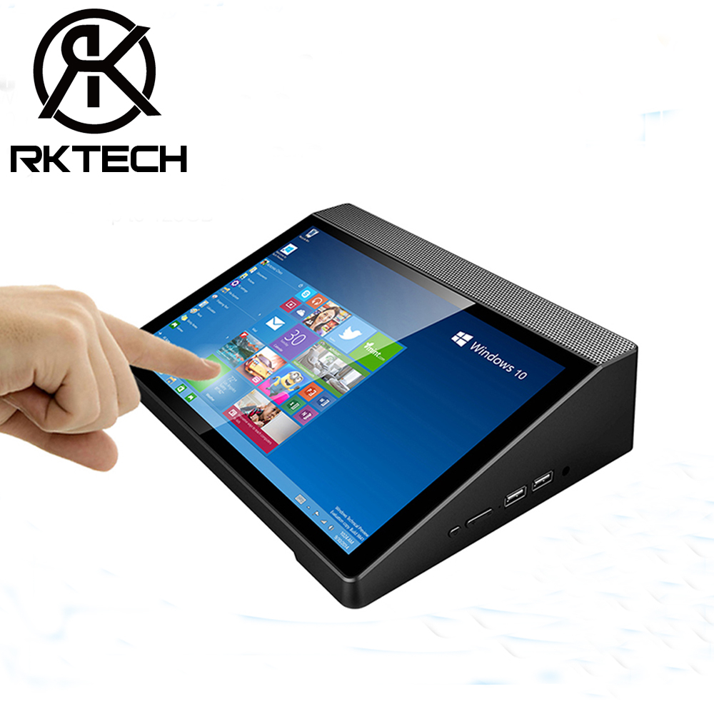 RK T9 All in one 10&quot; LCD Touch Screen <strong>Mini</strong> <strong>PC</strong> Intel Z8350 Quad Core 2GB RAM 32GB ROM Built-in Speaker