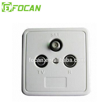 CATV wall outlet socket satellite wall outlet 5-2300MHZ