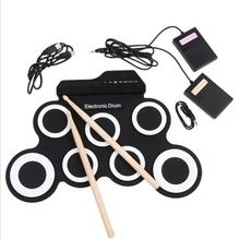 Draagbare Hand Roll Up Electronic Drum Kit Siliconen Digitale Usb Midi Elektrische Drum Sets Opvouwbare Mini Handy E Drum Pad voor Kids