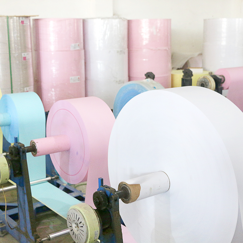 2 ply carbonless paper rolls custom NCR Copy carbonless continuous printing paper in jumbo roll