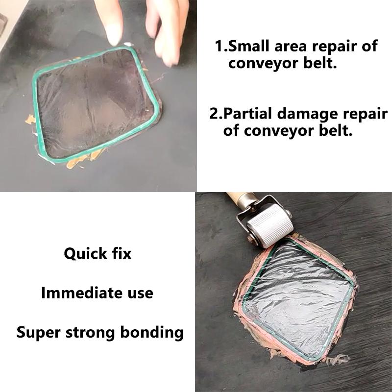 Resistencia al desgaste cinta transportadora de goma parche de reparación