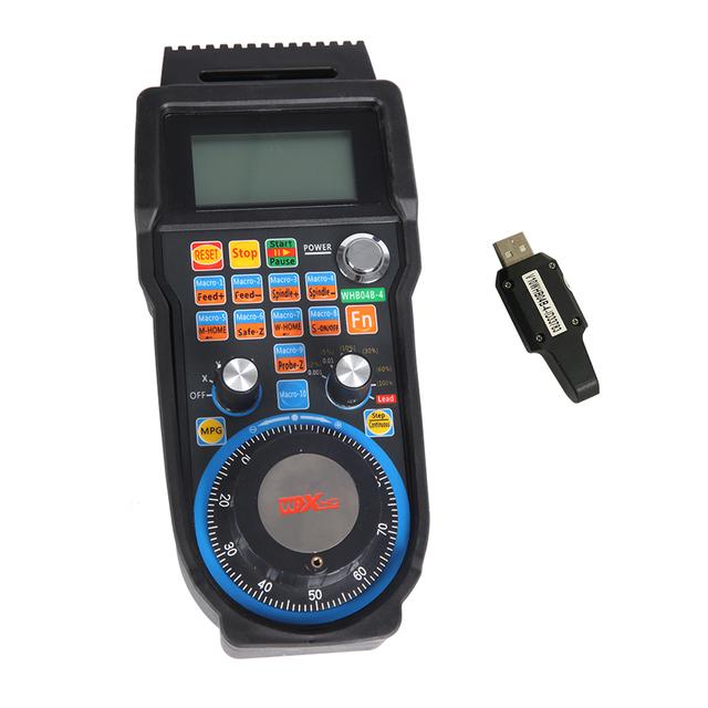 Whb04b-4 XHC 4 Axis Wireless Mach3 Remote MPG Pendent CNC Pendant USB Handwheel for sale online