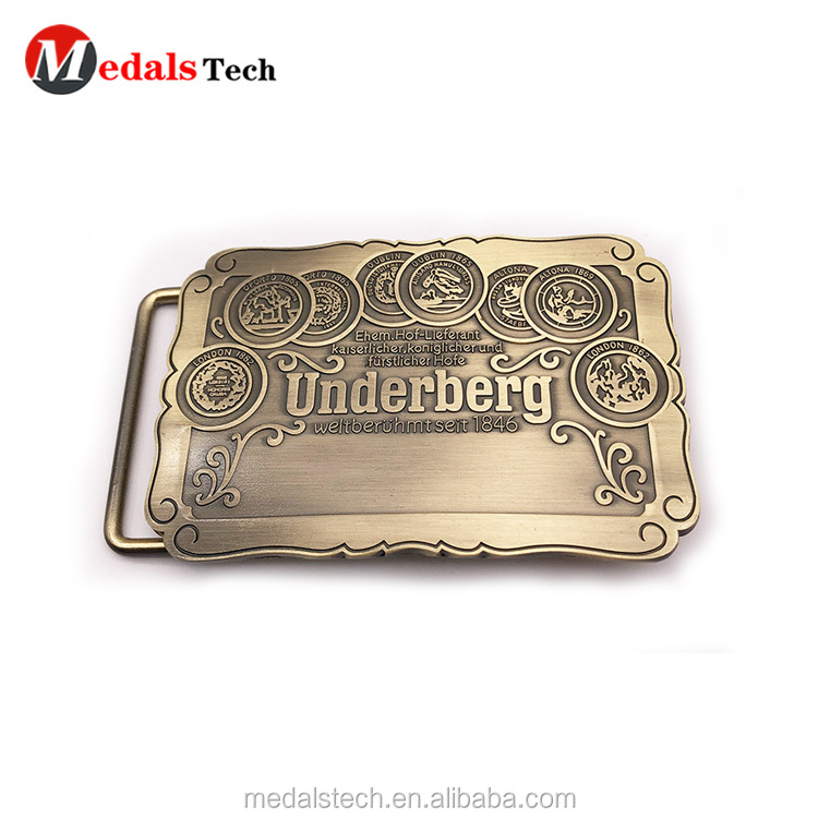 Fashion cheap custom gold plated safety metal coat  belt buckle