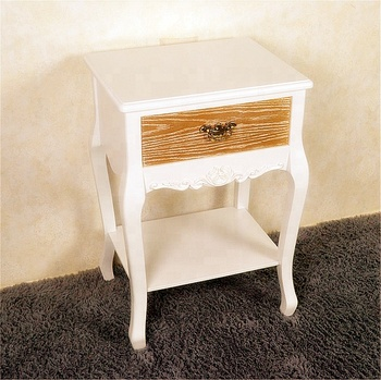 French Country Bedroom Sets Furniture Wood Night Bedside Table Wooden Lamp White Product On