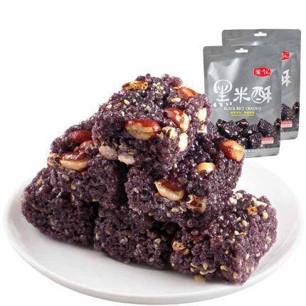300g knuspriger schwarzer Reis Candy Millet Crisp Puffed Maitong für Snacks