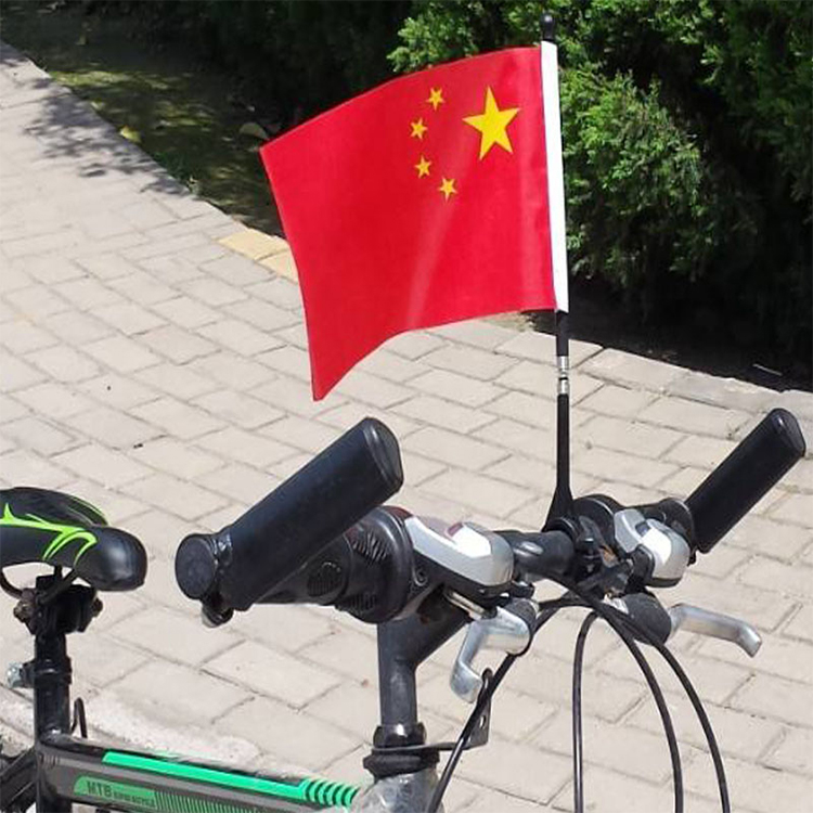 OEM printed cheap flying Welsh country bicycle flag with pole