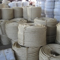 3 & 4 strands natural sisal rope manila rope for packing