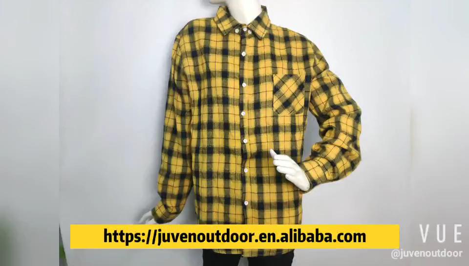 Décontracté À Carreaux En Flanelle Veste Streetwear homme Chemises