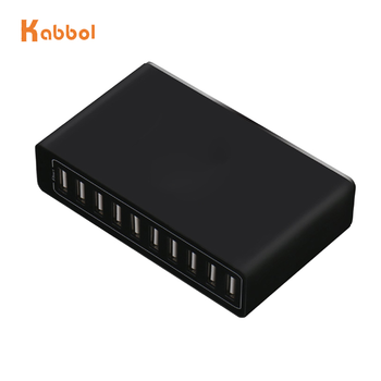 Multi Port USB Charger 10 USB 10A Power 50W Snelle Opladen Station 10 port usb charger voor smart telefoon en tablet