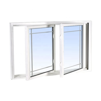 White pvc Internal Frame Plastic sliding Windows materials plastic track Up Profile Bathroom Accordion UPvc casement window