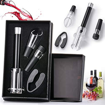 Wine Opener Air Pressure Pump Opener Set with Foil Cutter Wine stopper Wine Pourer