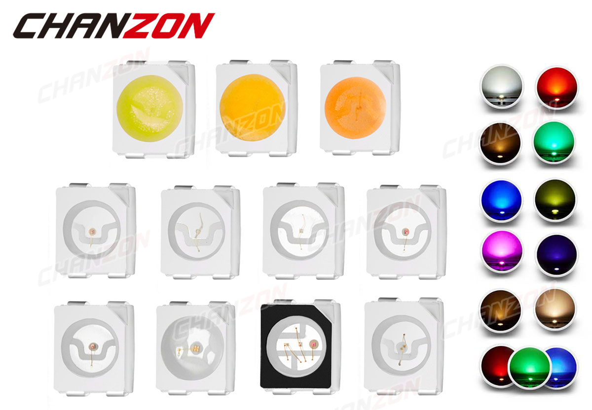 0402 0603 0805 1206 3014 3020 3528 2835 3535 5050 5630 5730 White Red Green Blue RGB UV 3V 9V Light Lamp Bead Diode SMD LED Chip
