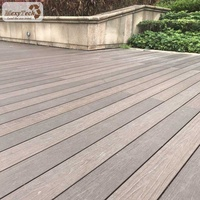 wooden deck modern decoration co-extrusion outdoor oak wood plastic composite timber flooring