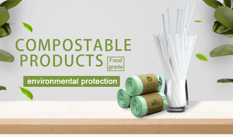 PLA Plastic Bags Disposable T-shirt  Biodegradable Garbage Bags