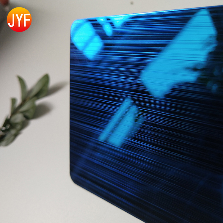 A3141 Best Selling Customized Brushed Stainless Steel Sapphire Blue Wall Decorative Sheet For Wall Background