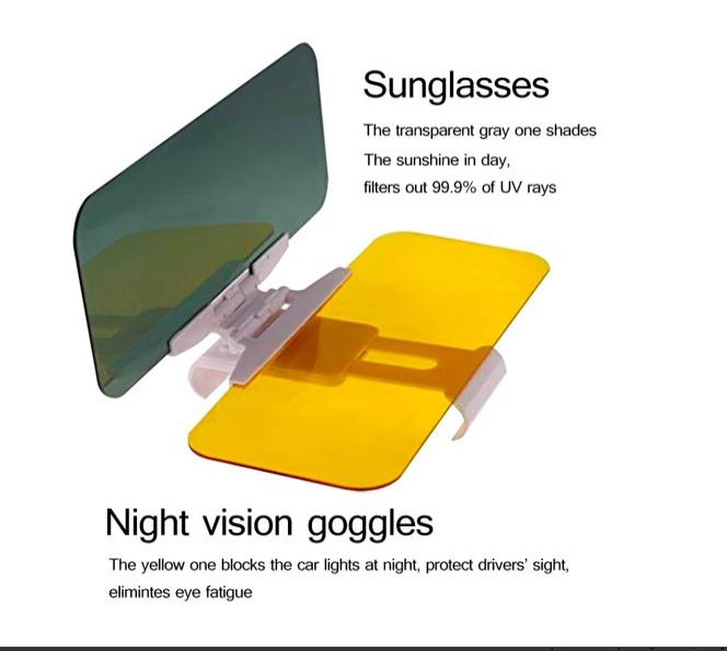 Voiture Pare-soleil Anti-éblouissement Goggle Jour Vision Nocturne Conduite