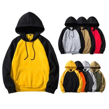 2019 cheap china wholesale clothing young men's casual pullover blank hoodie custom print