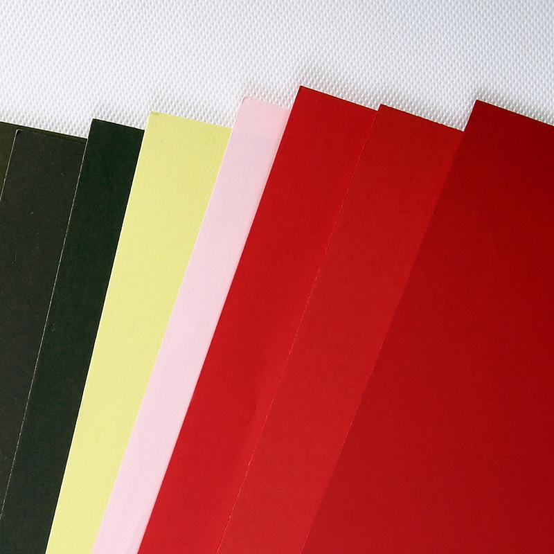 คู่ขนาด A4 ขนาดสีการ์ด DIY Origami กระดาษตกแต่งสี