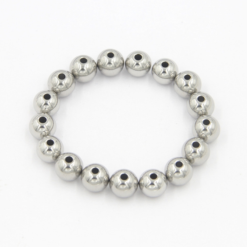 304 stainless steel metal beads with drilling 50mm diameter with 4mm hole