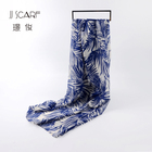 Pattern promotion customized logo turkish chiffon scarf voile flower for women