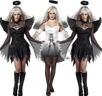 Dia Das Bruxas Fantasia Cosplay Anjo Escuro Feminino Fantasma Noiva Demonios Carnaval Desempenho Vestuario Noite Assustador Buy Halloween Cosplay Anjo Escuro Feminino Cosplay Noiva Fantasma Fantasias Cosplay Anjo Escuro Product On Alibaba Com