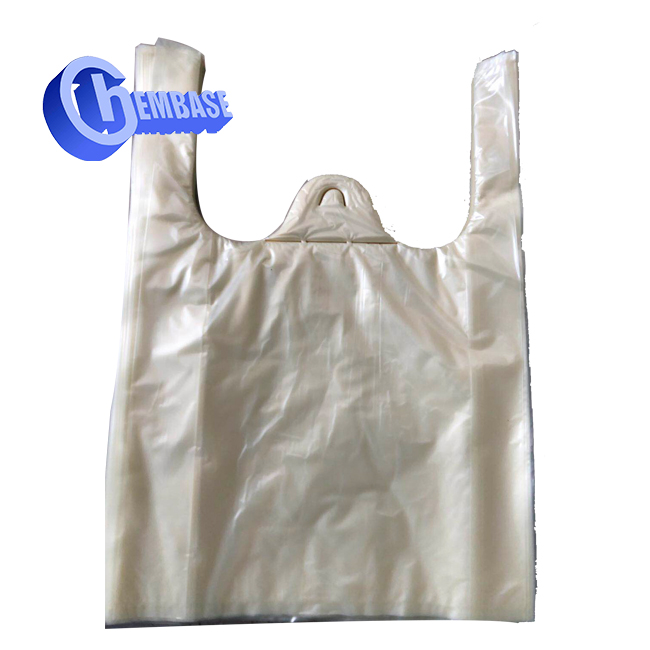custom printed eco friendly biodegradable plastic PVA shopping bag with logos