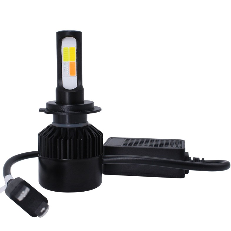 באיכות גבוהה 4 צבעים רכב Led פנס H4 H11 H7 Cob Led אופנוע פנס הנורה ערפל מנורת ערכת