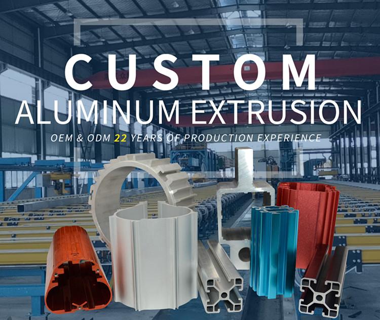 Подгонянный CNC Анодированный промышленный профиля, профиль из алюминиевых сплавов 6063 алюминиевые штранг-прессования Сделано в Китае от поставщика алюминиевых профилей