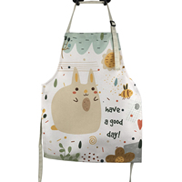 OEM promotional kitchen cotton linen apron custom logo printed cooking apron