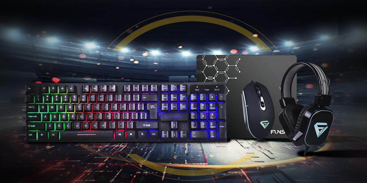 CICIN Adjustable Gaming Mouse 4000DPI RGB Breathing Light Gaming Mouse Mechanical Gaming Mouse Ergonomic Game Mice