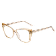 SO & EI, Ретро стиль, кошачий глаз, многогранный кристалл, для женщин, TR90, очки, оправа, прозрачный, анти-синий луч, линзы, очки, весна, шарнир, опра...(Китай)