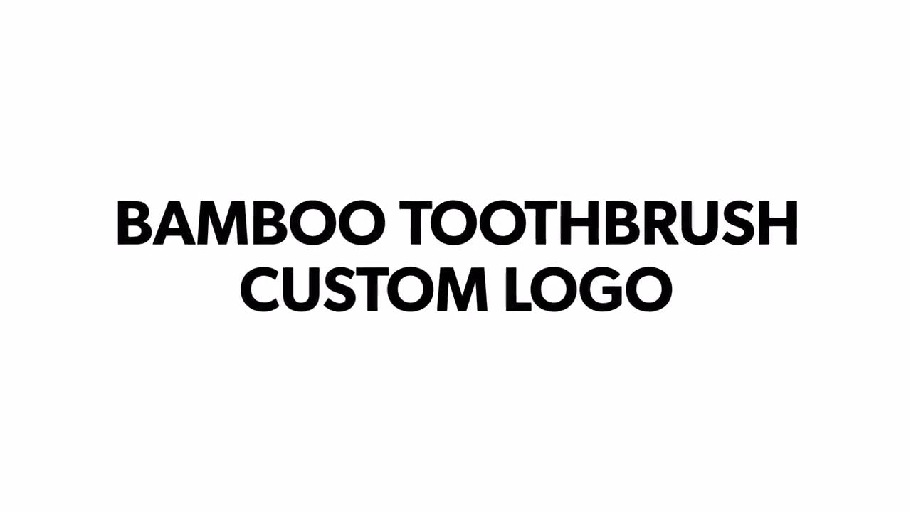 2020 Hot Produk Bambu Sikat Gigi Logo Kustom