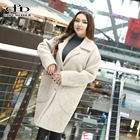 Wholesale women coat woolen jacket lady plaid garment