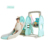 Multifunction Indoor Playground Plastic Baby Swing with Slide Set