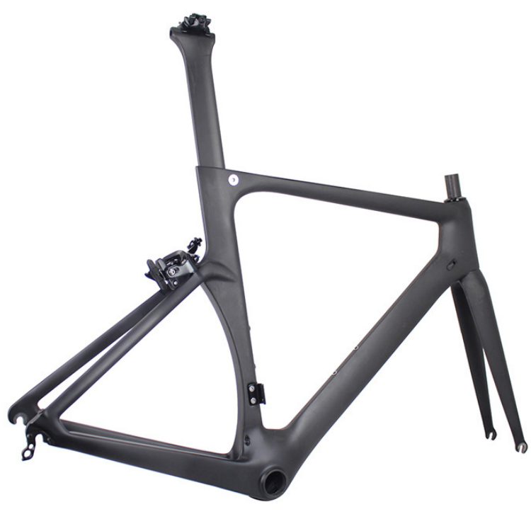 Horsecarbon no foldable 700c <strong>road</strong> bicycle aero BB86 49/52/54/56/59cm size light race V brake <strong>carbon</strong> bike <strong>frame</strong> R006-V