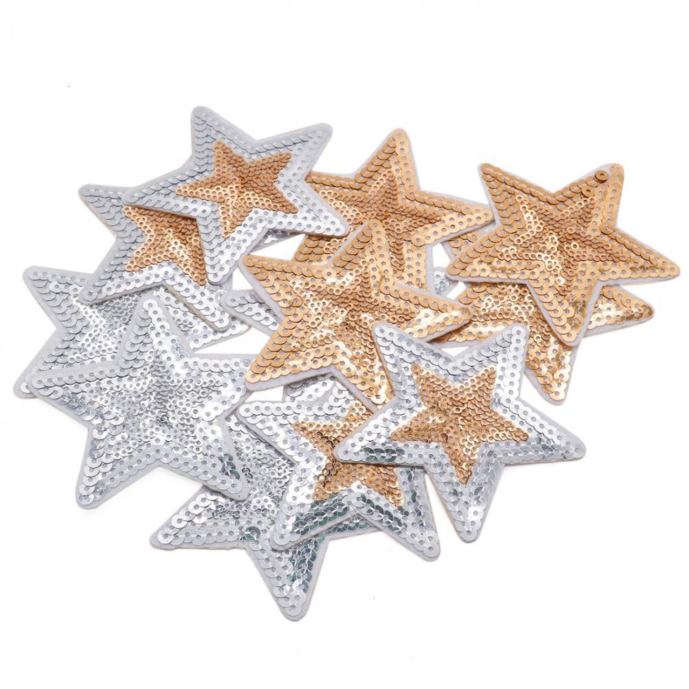 Melhor preço novo design reversível virar estrela de lantejoulas de patch para roupas
