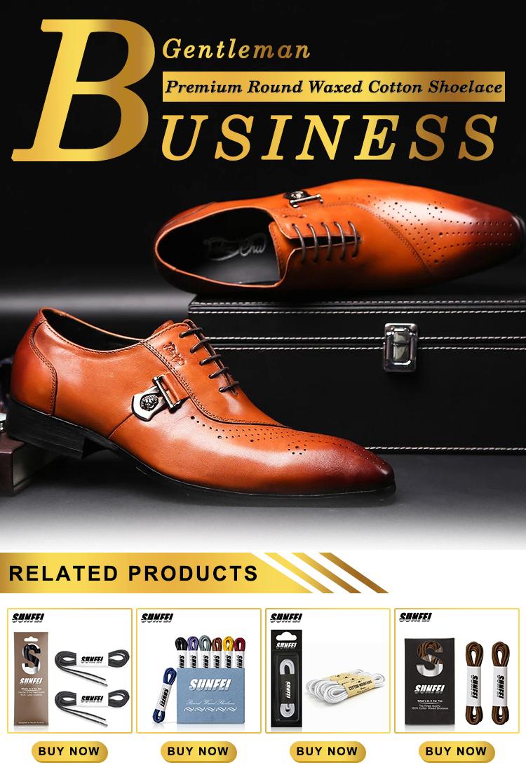 قسط مشمع القطن أربطة الحذاء اللباس أربطة الحذاء للجلود أحذية الرجال مع الفاخرة حزمة اللباس الأربطة