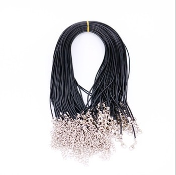 Waxed necklace thread crystal pendant rope leather rope gold jewelry hang rope