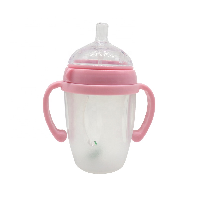 BPA Free Silicone Newborn Infant Baby Milk Water Bottle New Silicone Feeding Bottle For Babies