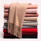 2019 Wholesale Fashion Hot Custom Lady Solid Color Winter Warm Cashmere Wool Other Scarf Shawl For Women