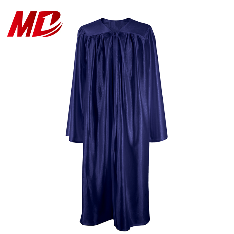 top selling High School Navy Graduation Gowns Cap Shiny