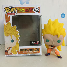 Hot Selling <span class=keywords><strong>Funko</strong></span> <span class=keywords><strong>Pop</strong></span> #492 Super Saiyan 3 Goku Dragonball Action Figure <span class=keywords><strong>Dragon</strong></span> <span class=keywords><strong>Ball</strong></span> Z Pvc Figuur Speelgoed