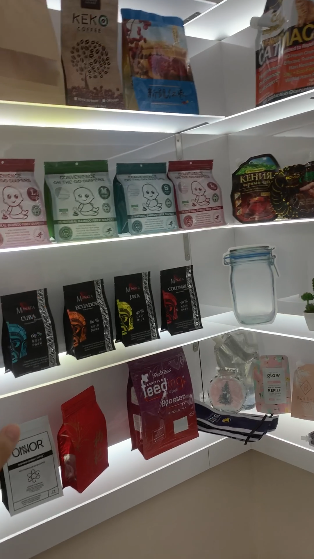 Refermable de qualité alimentaire en plastique sac à fermeture à glissière pour fruits secs collations emballage sac de serrure de fermeture éclair écologique