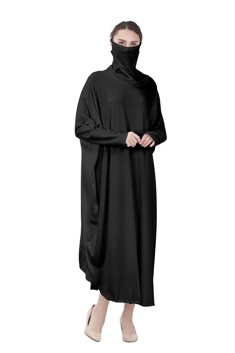 Baju Muslim Lengan Kelelawar Untuk Wanita Baju Gamis Islami Khimar Panjang Jilbab Penutup Wajah Untuk Wanita Buy Muslim Wanita Thobe Gaun Penutup Wajah Niqab Muslim Menyembah Wanita Thobe Product On Alibaba Com
