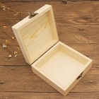 Antique Box Gift Wood Box Diy Rustic Vintage Honey Storage Jewelry Tool Craft Hinged Lid Rectangular Square Antique Wooden Gift Box