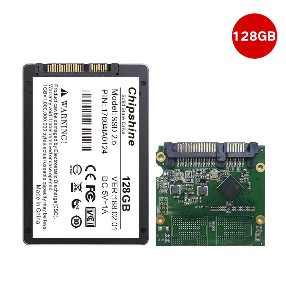 "Chipshine 2.5 ""HD 128GB Internal SATA 3 SSD Hard Drive untuk Laptop"
