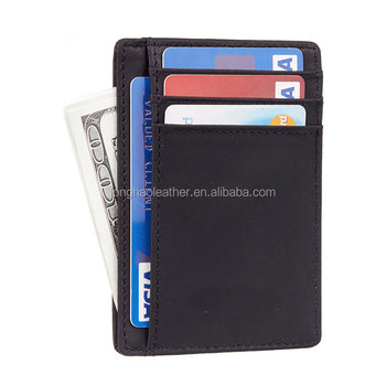 Rfid Wallet Ultra-thin Compact Durable Custom Leather Credit Card Holder Wallet