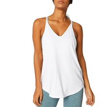 <span class=keywords><strong>Mujeres</strong></span> tank <span class=keywords><strong>tops</strong></span> racer-back running chaleco caída hem diseño
