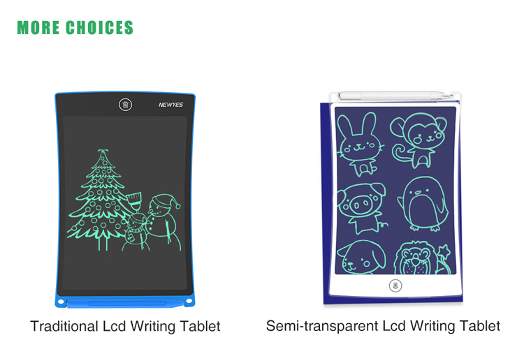 New Technology LCD Graphic Tableta Kids Paperless Drawing Pad Erasable Writing Tablet