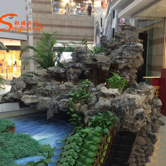 2020 Shopping Mall Decoration High Mountain Resin Artificial Garden Rock Fountains Buy Garden Water Fountain Oriental Garden Fountains Mini Garden Fountain Product On Alibaba Com